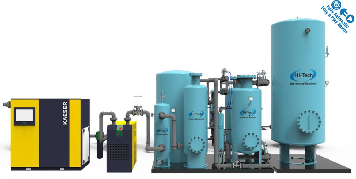 95% Pure Oxygen Generator - Onsite Gas Generation Systems