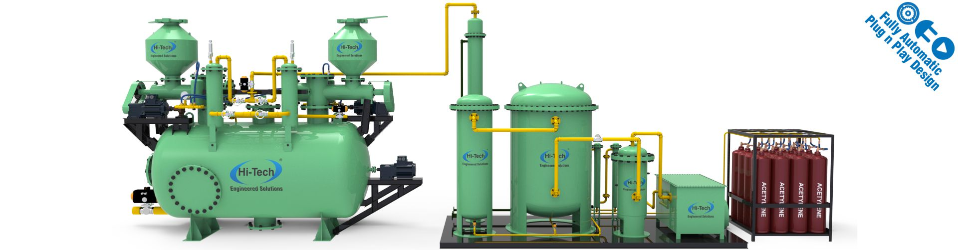 acetylene plant for continuous process applications