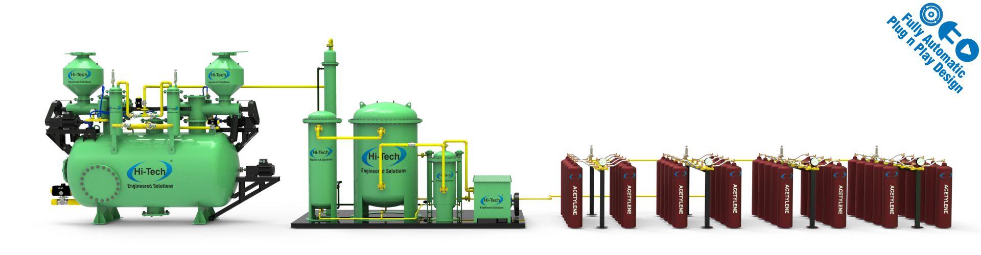 acetylene cylinder filling plant